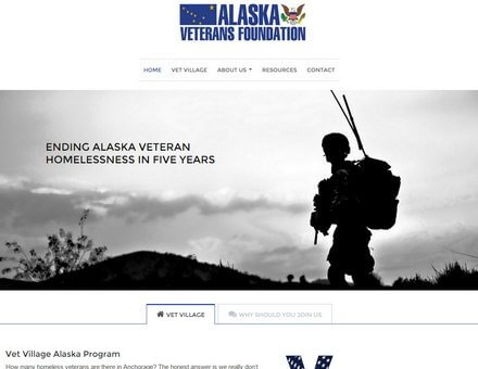 Alaska Website Design Sample Website - Alaska Veterans
