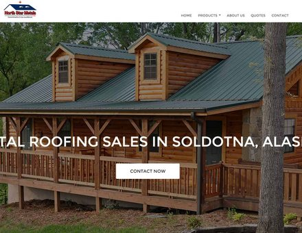 Alaska Website Design Sample Website - Kenai Alaska Metal Roof