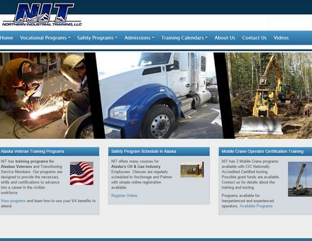 Alaska Website Design Sample Website - NIT-Alaska