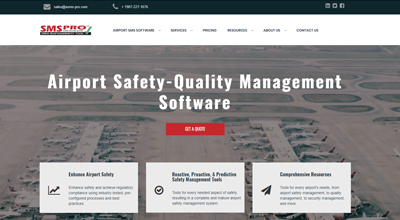 Airport Safety-Quality Management Software website